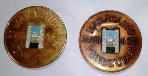 medallas juegos bolivarianos , maracaibo 1970, set de dos
