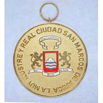 Medalla La Muy Ilustre Y Real Ciudad De San Marcos De Arica.