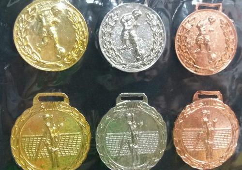 medallas para campeonatos condecoraciones futbol voley etc