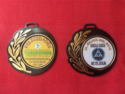 medallas plast. souv. dep. con sticker y cinta mod.113