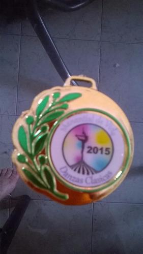 medallas plast. souv. dep. metalizada s/sticker mod.109