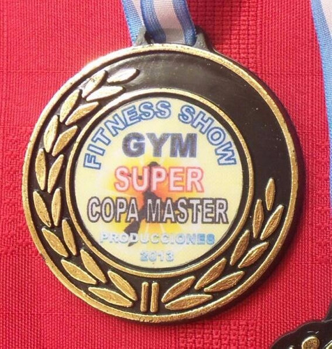 medallas plasticas souvenirs deportivas con sticker mod.105