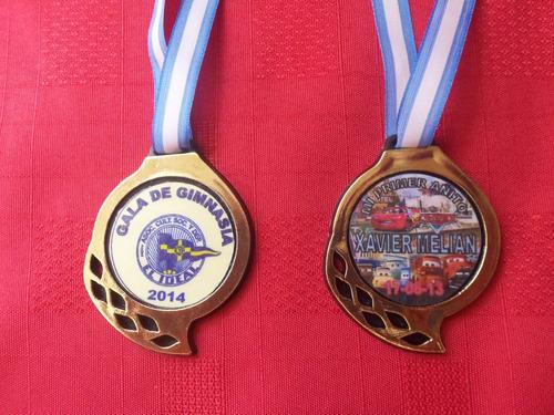 medallas plasticas souvenirs deportivas con sticker mod.108
