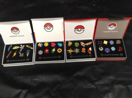 medallas pokemon set de 8 medallas  pokemon go