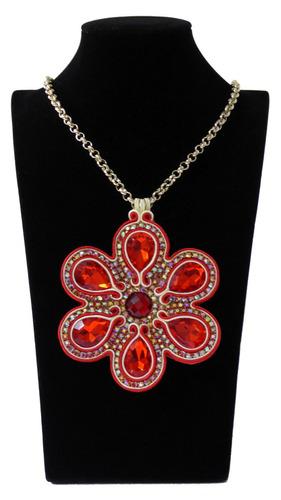 medallón hecho a mano - collar importado para mujer