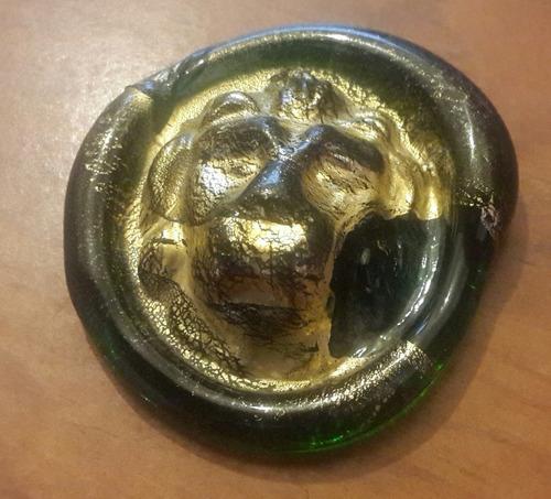 medallon / pisapapeles cristal italiano gambaro & poggi