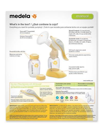 medela extractor de leche harmony sacaleches manual