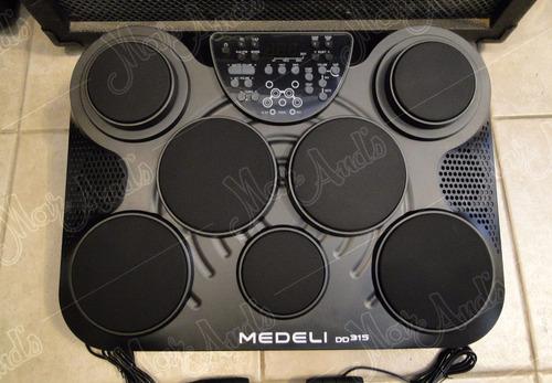 medeli/muza dd315 bateria electronica c/ palillos, pedal