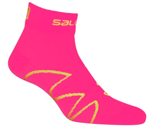 media  femenina salomon -  xa pro w rosado - trail running