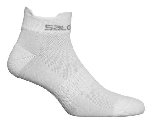 media  femenina salomon -  xa sonic w blanco - trail running