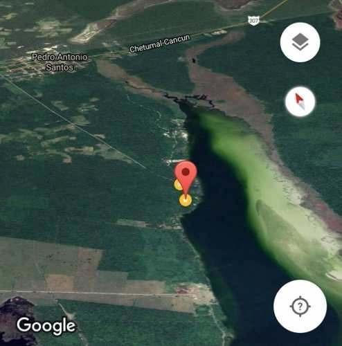 media hectarea en pedro santos con frente de laguna