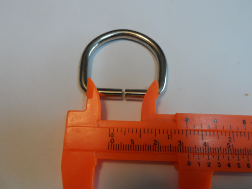 media luna o media argolla 32 mm o 3.2 cms calibre grueso