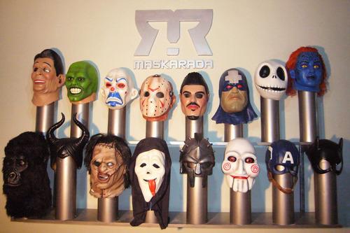 media máscara látex ricardo fort disfraz halloween