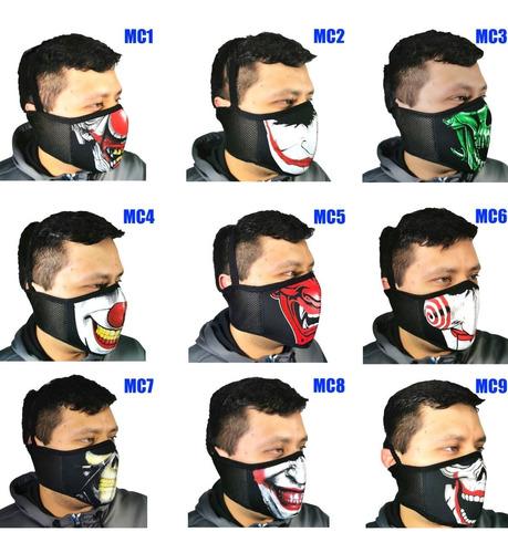 media mascara neopreno mayoreo 10 pzs motociclismo correr