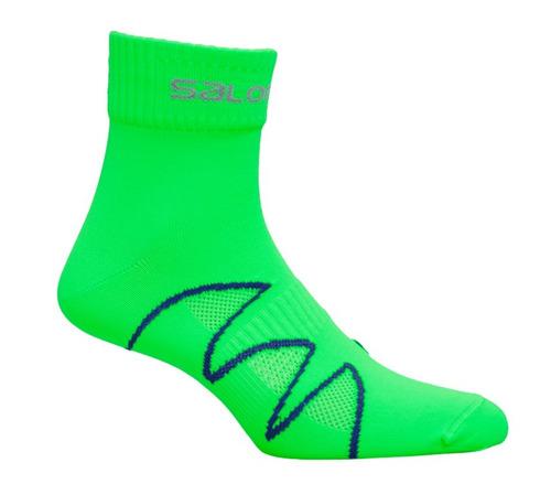 media masculina salomon - xa pro fluo m verde/azul - hiking