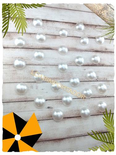 media perla p/ pegar blanca 10 mm candy bar x100u decoracion