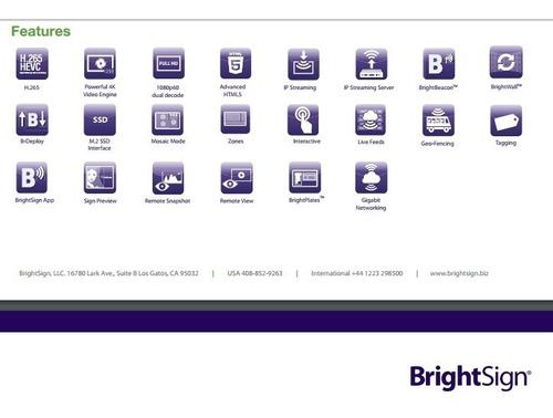 media player para digital signage brightsign xd1033 nuevos