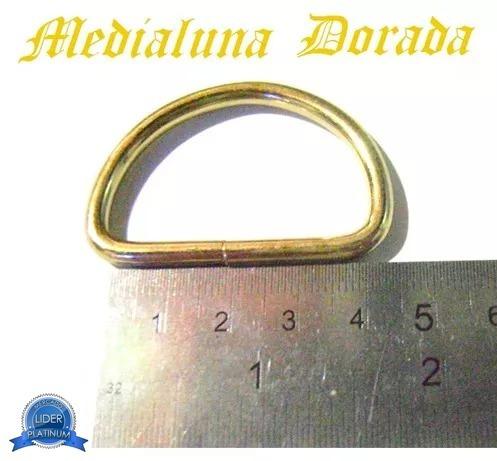 medialuna dorada 4cm 40mm gruesa aro argolla nikel 4unidades