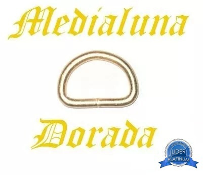 medialuna dorada alambre grueso aro niquel 2cm 20mm 3unidade