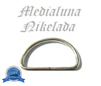 medialuna nikelada alambre fino niquel 2.5cm 25mm 3 unidades