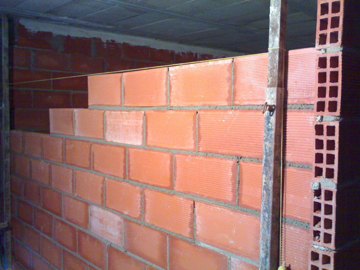 Medianeras de ladrillos huecos mano de obra 5995 x 10 - Ladrillos para pared ...