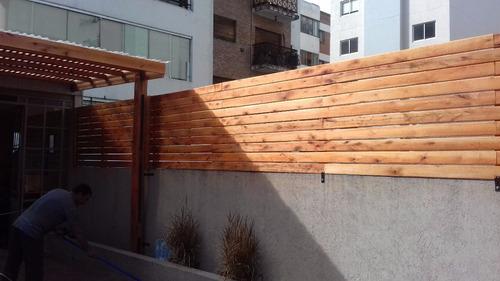 medianeras de madera con colocacion x m2