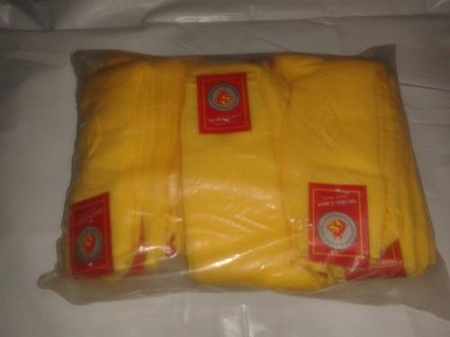 medias algodon 75% gris marrones y amarillas 12 pares