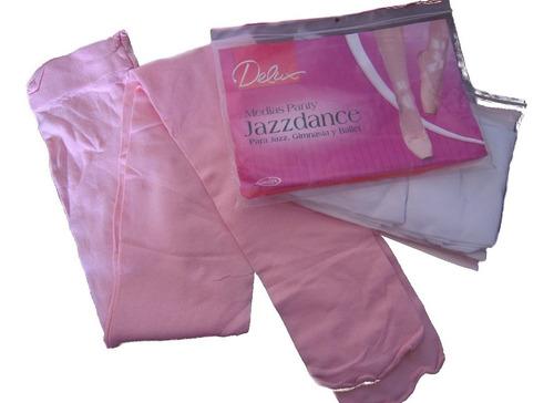 medias ballet  danza jazz rosado blanco negro melón