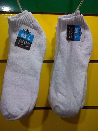 medias blancas deportivas tobilleras talla l