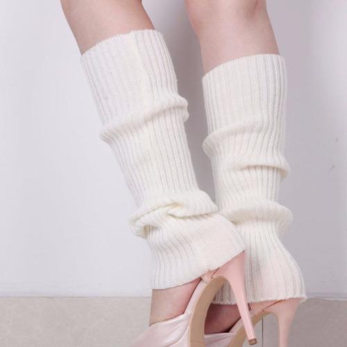 medias blancas fashion moda 80's dance para tacones zapatos