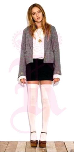 medias bota blancas trendy vintage colegial lolita