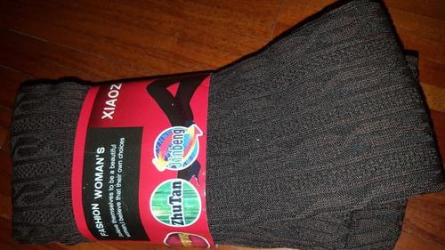medias cancan de lana nuevas (marron)