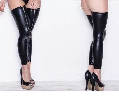 medias con cierre cremallera sexy femenino sado