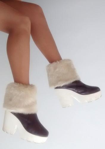 medias con piel sintetica cubre botas extensible h/ bucanera