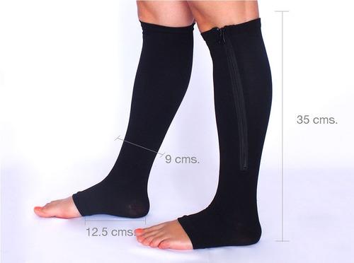 medias de compresion circulación presión piernas negra piel
