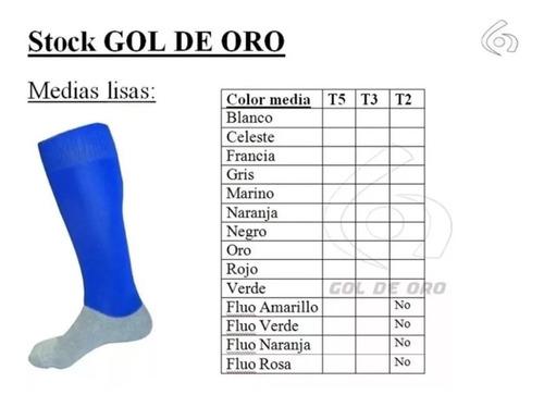 medias de futbol gol de oro stripes x docena (12 unidades)