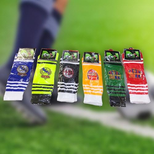 medias de fútbol rugby hockey cancha alta colores mvdsport