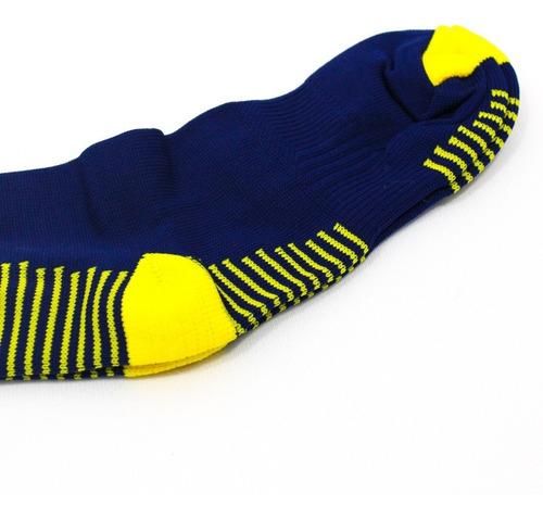 medias deportivas futbol profesional - azul oscuro/amarillo