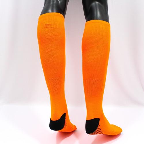 medias deportivas futbol profesional - naranja