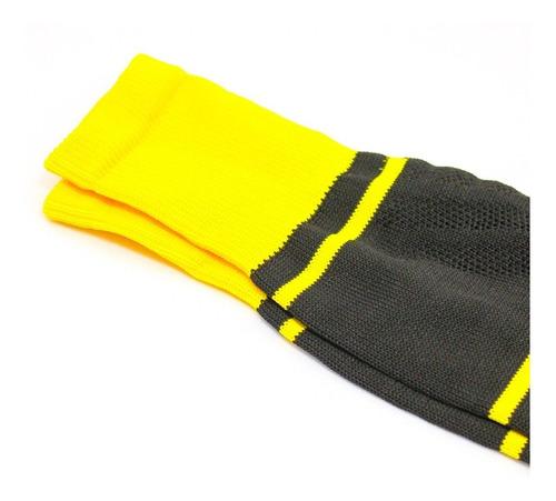 medias deportivas futbol semi profesionales - negro/amarillo