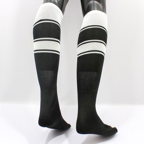 medias deportivas futbol semi profesionales - negro/blanco