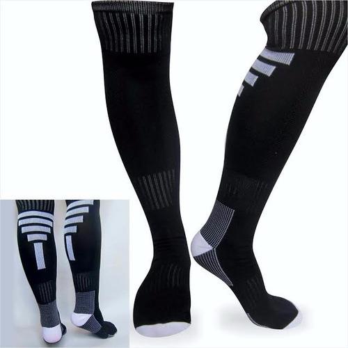 medias fútbol deportivas fitness color negro blanco