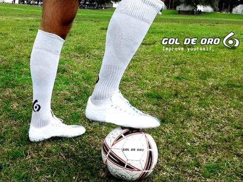 medias futbol hockey gol de oro training caña alta prof
