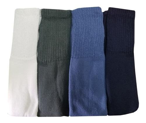 medias gruesas pesadas de algodon tubo x 12 pares - 1 docena