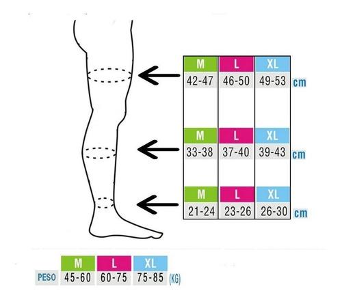 medias largas pantys compresion pie abierto (beage y negro)