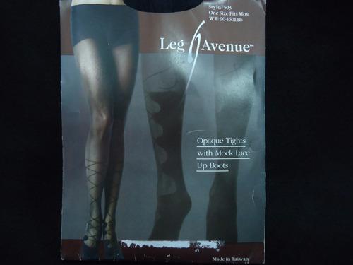 medias leg avenue unitalla color negro nueva