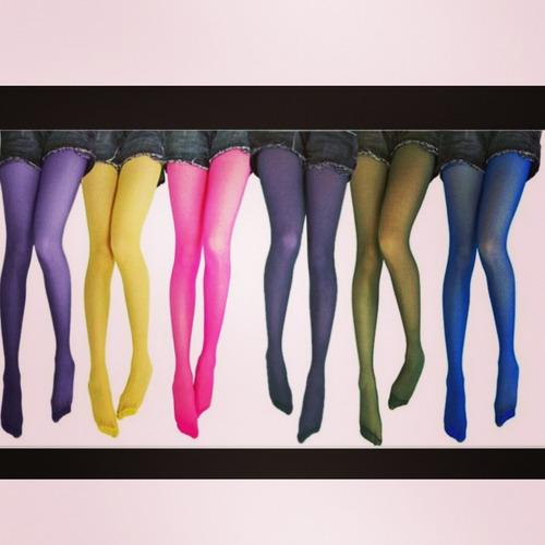 medias panty gruesas estilo leggins/variedad de colores