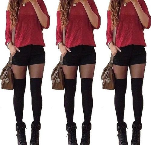medias panty medias mujer estilo bucaneras