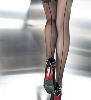 medias panty  tango con costura atrás sensual sexy divina !!