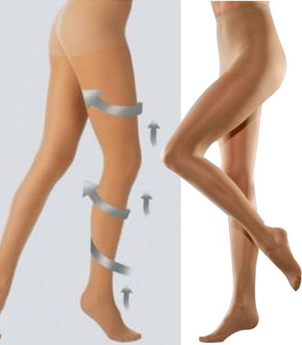 medias panty varices dama media compresión y descanso 18-22